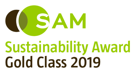 "SAM's ""Sustainability Yearbook"" logo"